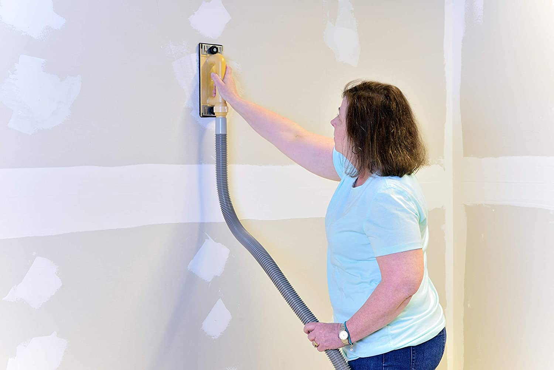 Hyde Tools 09165 Dust-Free Drywall Vacuum Hand Sander with 6-Foot Hose