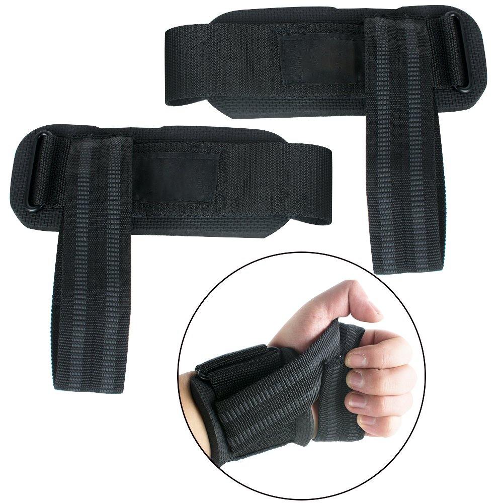 Zinnor Lifting Wrist Straps Wraps For Weightlifting, Bodybuilding, Strength Training, Powerlifting, 1Pair