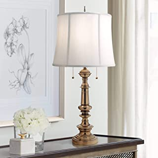 product image for Stiffel TL-A610-A709-BB One Light Table Lamp, Burnished Brass Finish with Ivory Shadow Shade