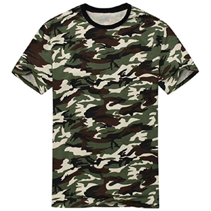 Edraydd Man Casual Camouflage T-Shirt Men Cotton Army Tactical Combat T  Shirt Military Camo e090216408e