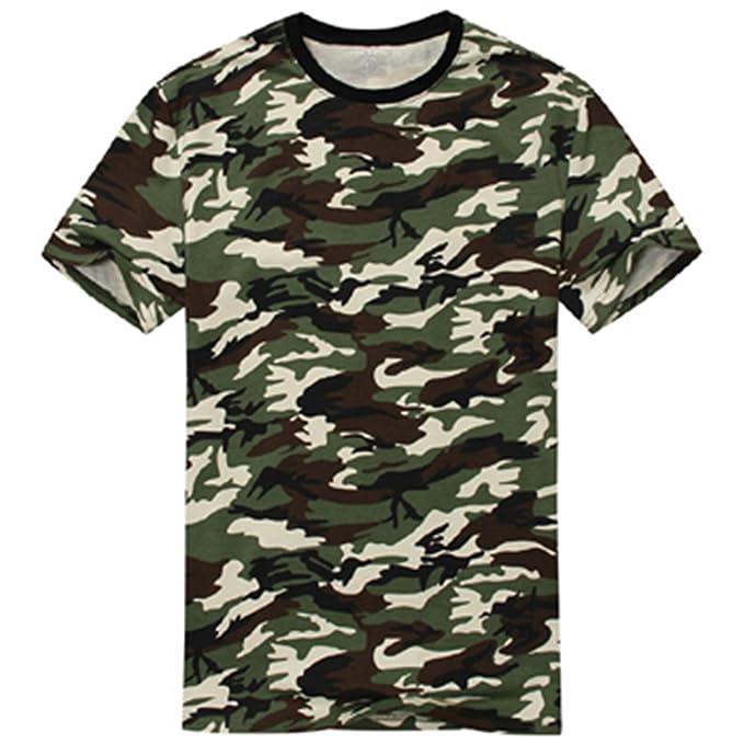 1aca78fc Edraydd Man Casual Camouflage T-Shirt Men Cotton Army Tactical Combat T  Shirt Military Camo