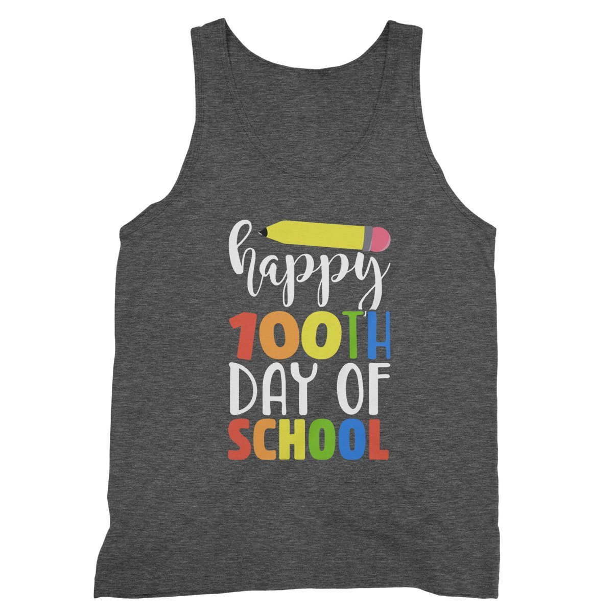 RedStar Mart Happy 100th Day of School for Teacher Tanktop