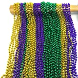 mardi gras package - GIFTEXPRESS 6 Dozen Round Metallic Purple Gold and Green Mardi Gras Beads
