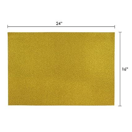 "Mega Crafts Gold 6PCS 16/"" x 24/"" Metallic Glitter Adhesive EVA Foam Sheets"
