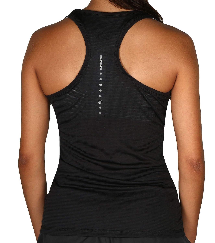 Crivit Pro TOPCOOL Womens Performance Sport Running Tank Top-Black-Small