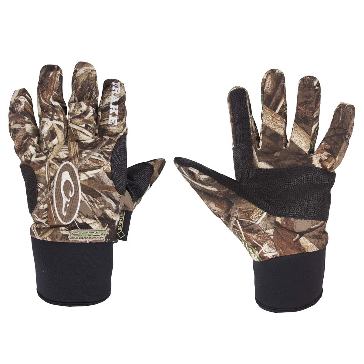 Drake Refuge HS Early Season Gore-Tex Glove-Mossy Oak Shadow Grass Blades-Large by Drake