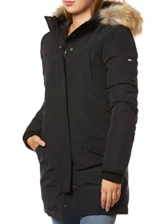 0c63eee0 Tommy Hilfiger Women's Coat - black -: Amazon.co.uk: Clothing