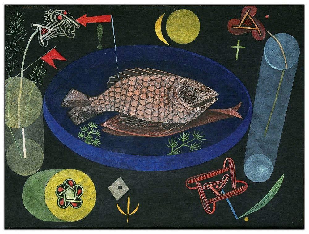 Artopweb TW21679 Klee - Around The Fish Dekorative Paneele, Multifarbiert,80x60 Cm