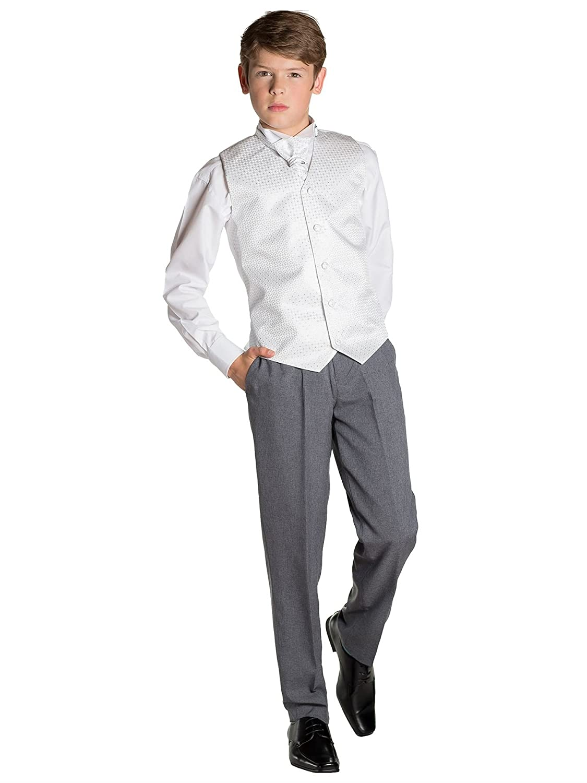 76762c742dda Paisley of London, Baby boys White & Grey Waistcoat Suit, Boys Suits, Page Boy  Suits: Amazon.co.uk: Clothing