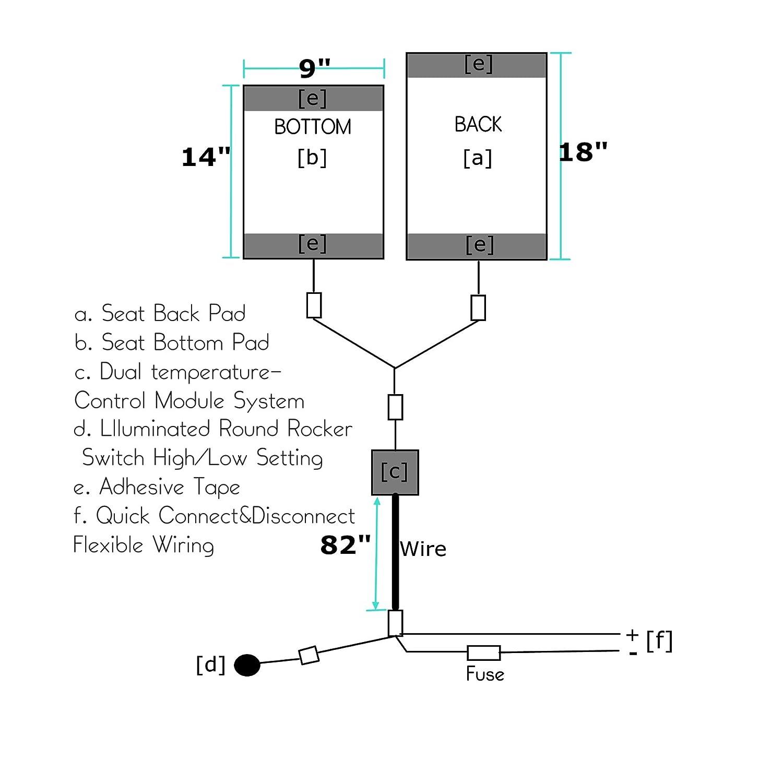 Amazon.com: Orion Motor Tech Universal Car Seat Heater Kits 12v Carbon  Fiber Heat Pads with Hi/Lo Temperature Switch 131~158 ℉(Set of 2):  Automotive