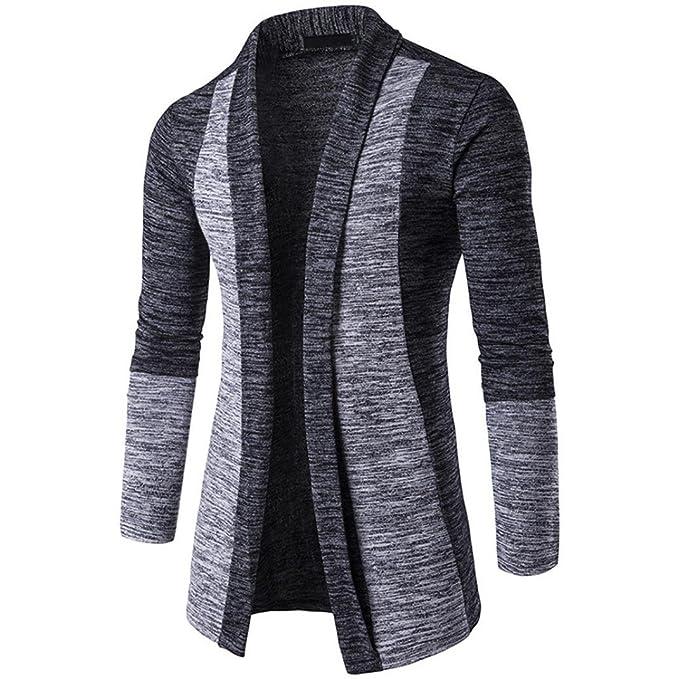 Goosuny Herren Strickjacke Open Jacke Lang Cardigan Knit Mantel Strick  Jacket Schlichte Hoodie Hoody Sweatshirt Casual 9ddba7f03f