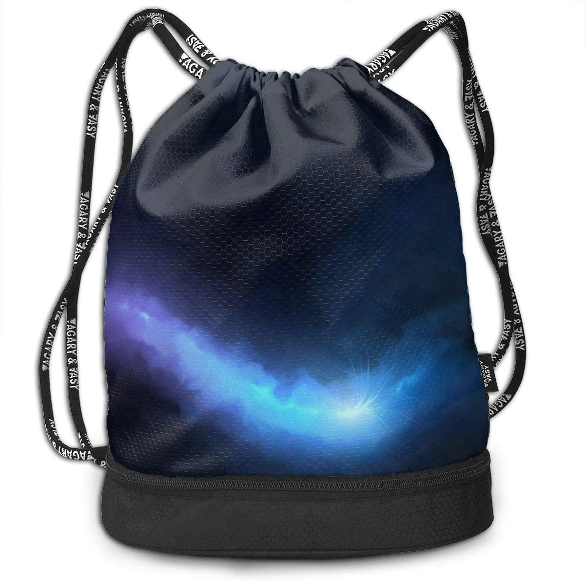 HUOPR5Q Yellow Stars Drawstring Backpack Sport Gym Sack Shoulder Bulk Bag Dance Bag for School Travel