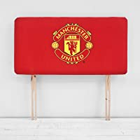 Children's Manchester United Football Club Crest Red Single Bed Divan Headboard