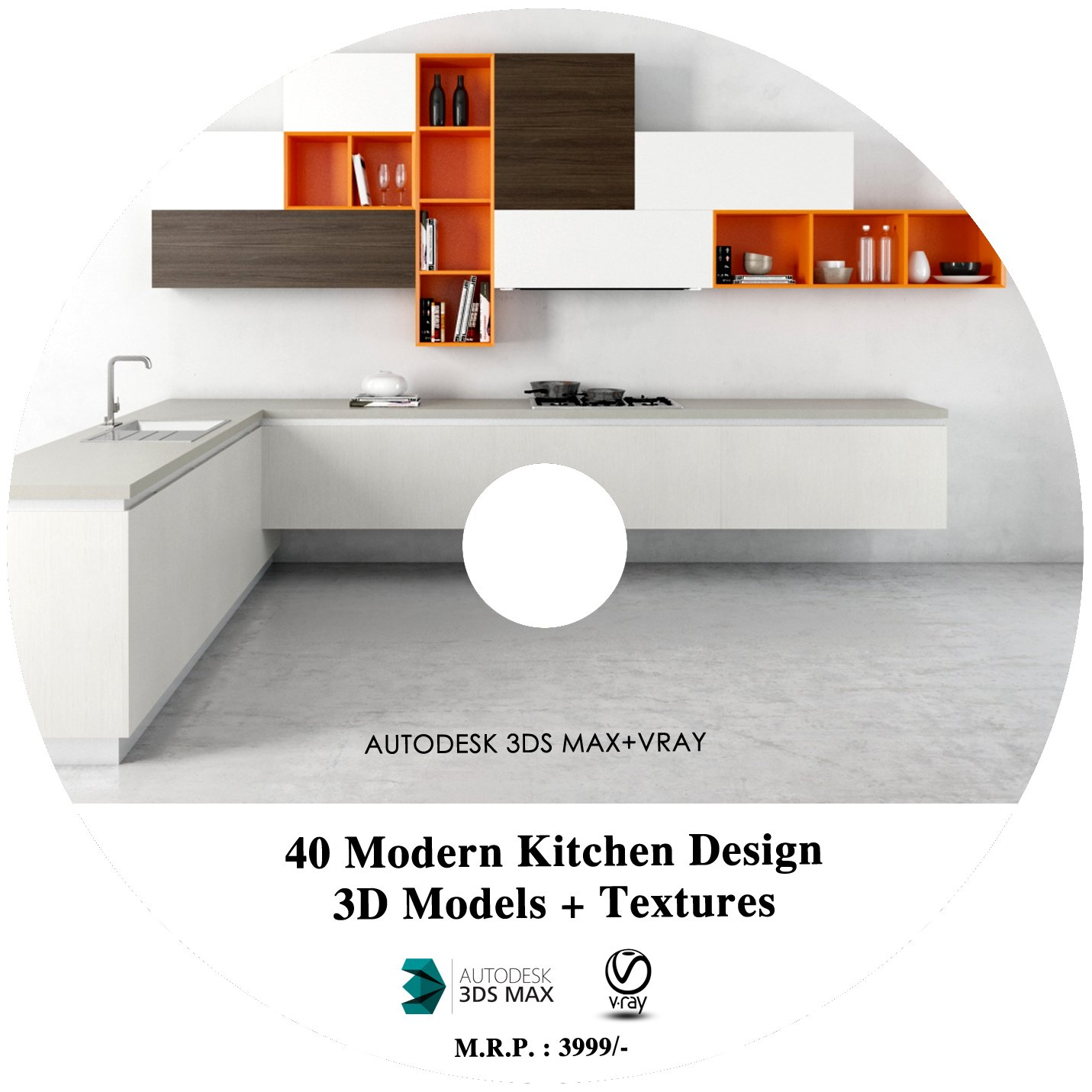 40 Modern Kitchen design 3D Models in 3DS Max + HD Textures