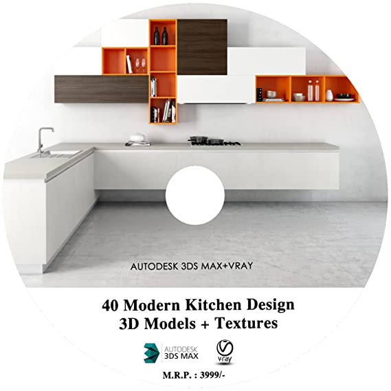 40 Modern Kitchen Design 3D Models In 3DS Max + HD Textures With Realistic  Rendering In