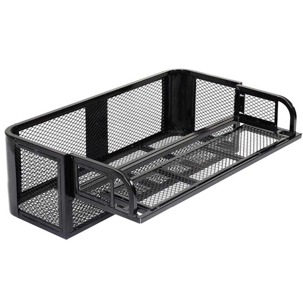 ATV UTV Universal Rear Drop Basket Rack Steel Cargo Hunting TKT-11