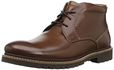 Rockport Men's Marshall Chukka Chukka Boot, Dark Brown Leather, ...