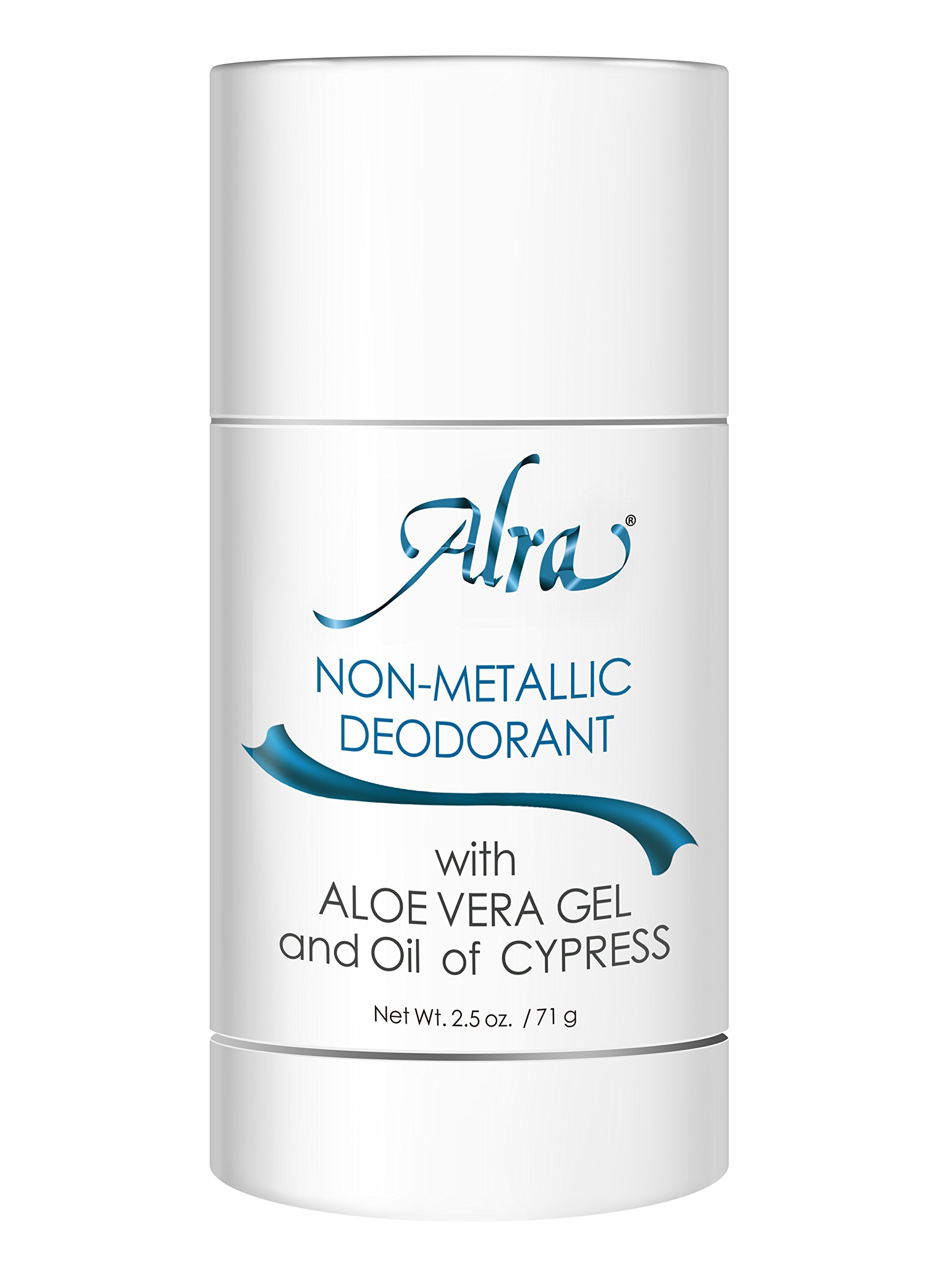 Alra - Non-Metallic Deodorant - Natural Odor and Wetness Protection - Acceptable for Cancer Patients Undergoing Chemotherapy and Radiation Treatments - Fragrance and Aluminum Free - 2.5 oz.