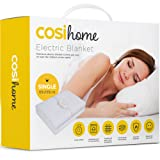 Premium Comfort Single Electric Blanket - Control with 3 Heat Settings, Polyester, White