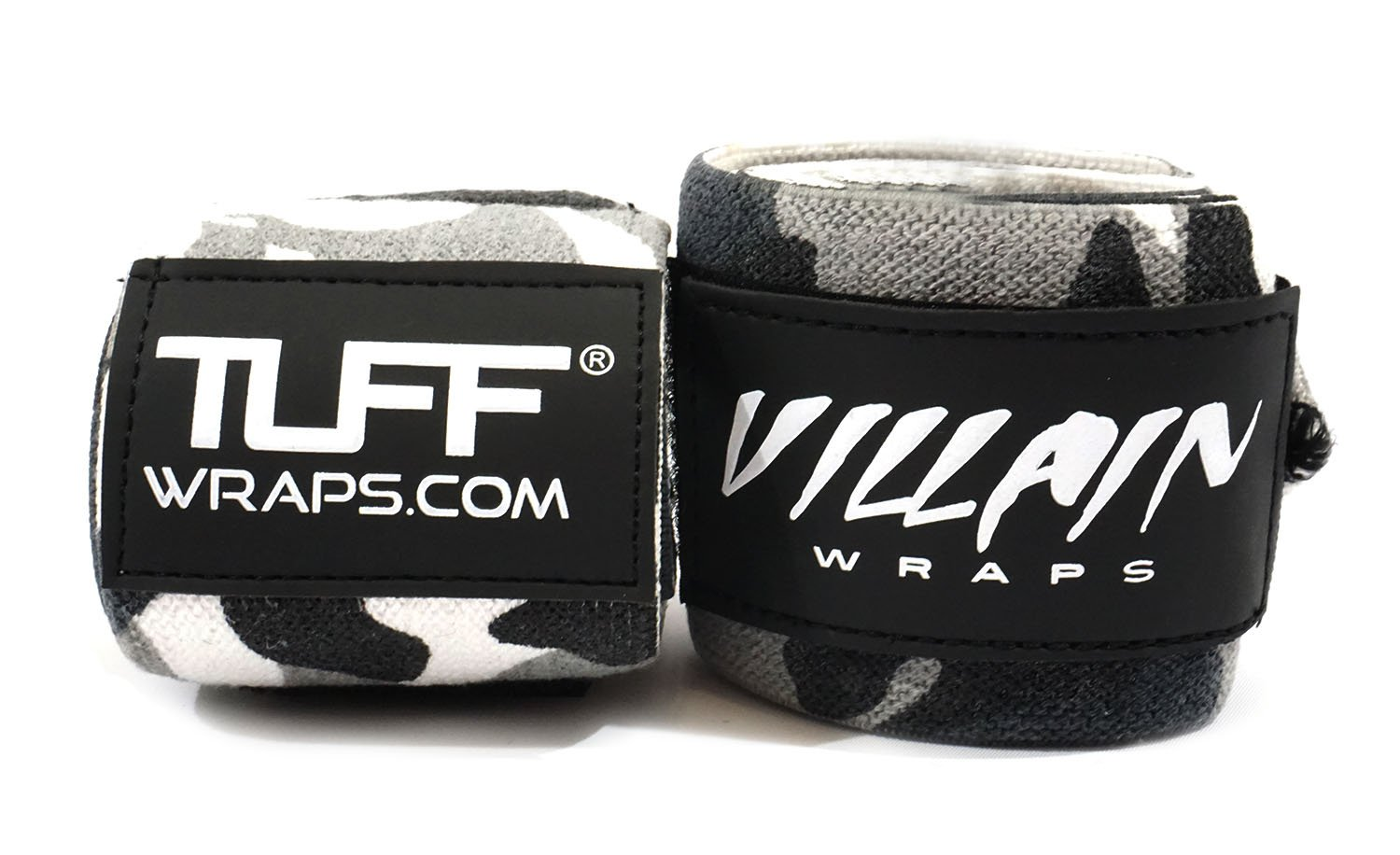 Villain Wrist Wraps 30'' for Powerlifting, Weightlifting, Strongman Training, Crossfit - (Black Camo, 30 Inches)