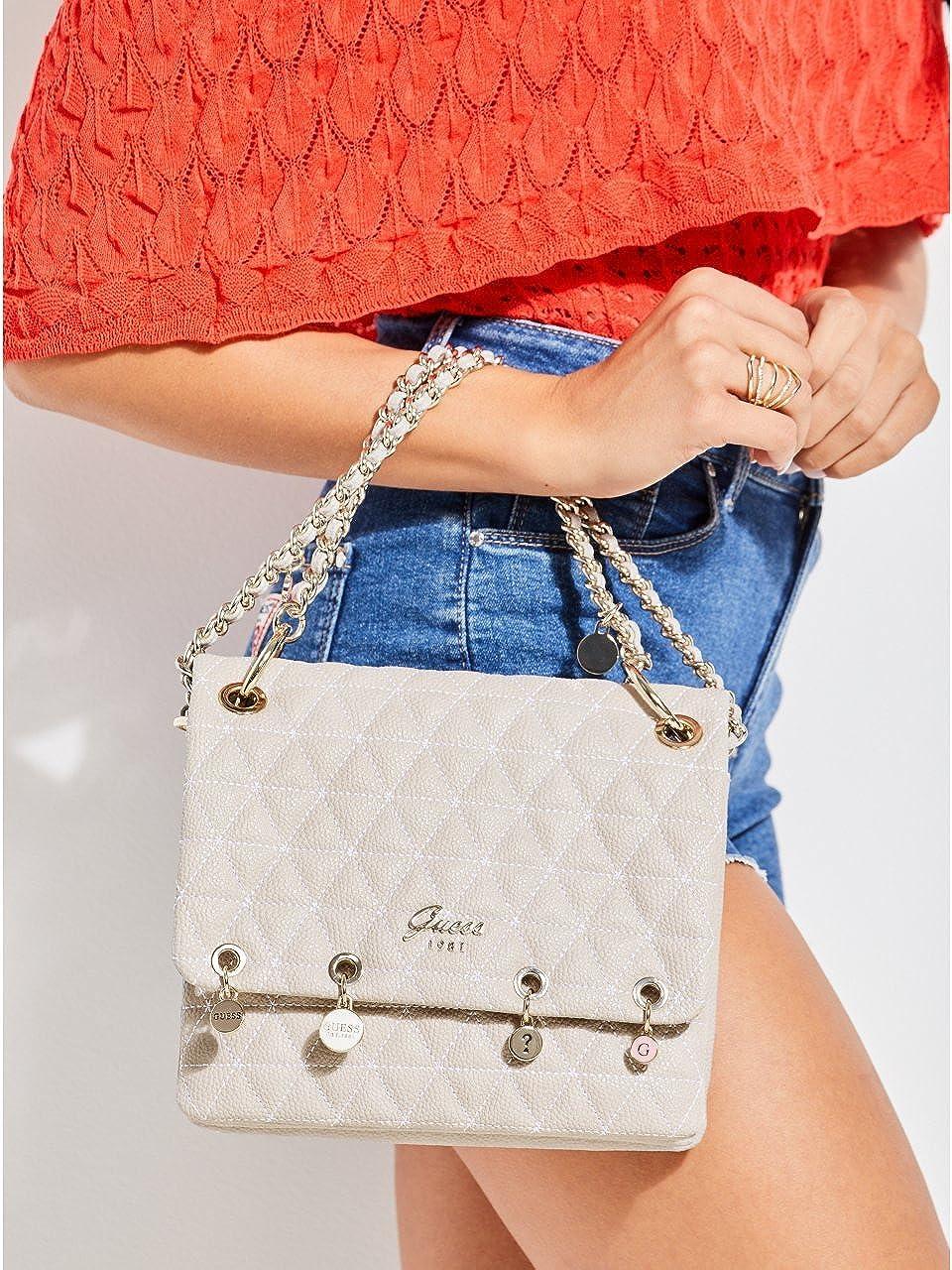 Guess Fleur Crossbody Flap Bag Cloud: Amazon.it: Scarpe e borse