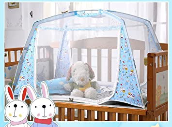CdyBox Baby Kids Crib Mosquito Net Travel Beach Tent Folding Yurt With  Stand Mongolia Pack Portable