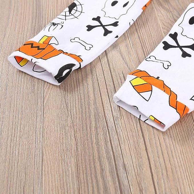 Bestow Vestido de Estampado de Letras de Manga Larga de BebšŠ de Halloween Pantalšn de Calabaza Estampado Sombrero: Amazon.es: Ropa y accesorios