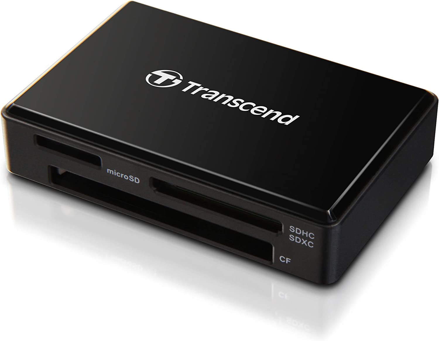 Transcend USB 3.0 Super Speed Multi-Card Reader for SD/SDHC/SDXC/MS/CF Cards (TS-RDF8K),Black
