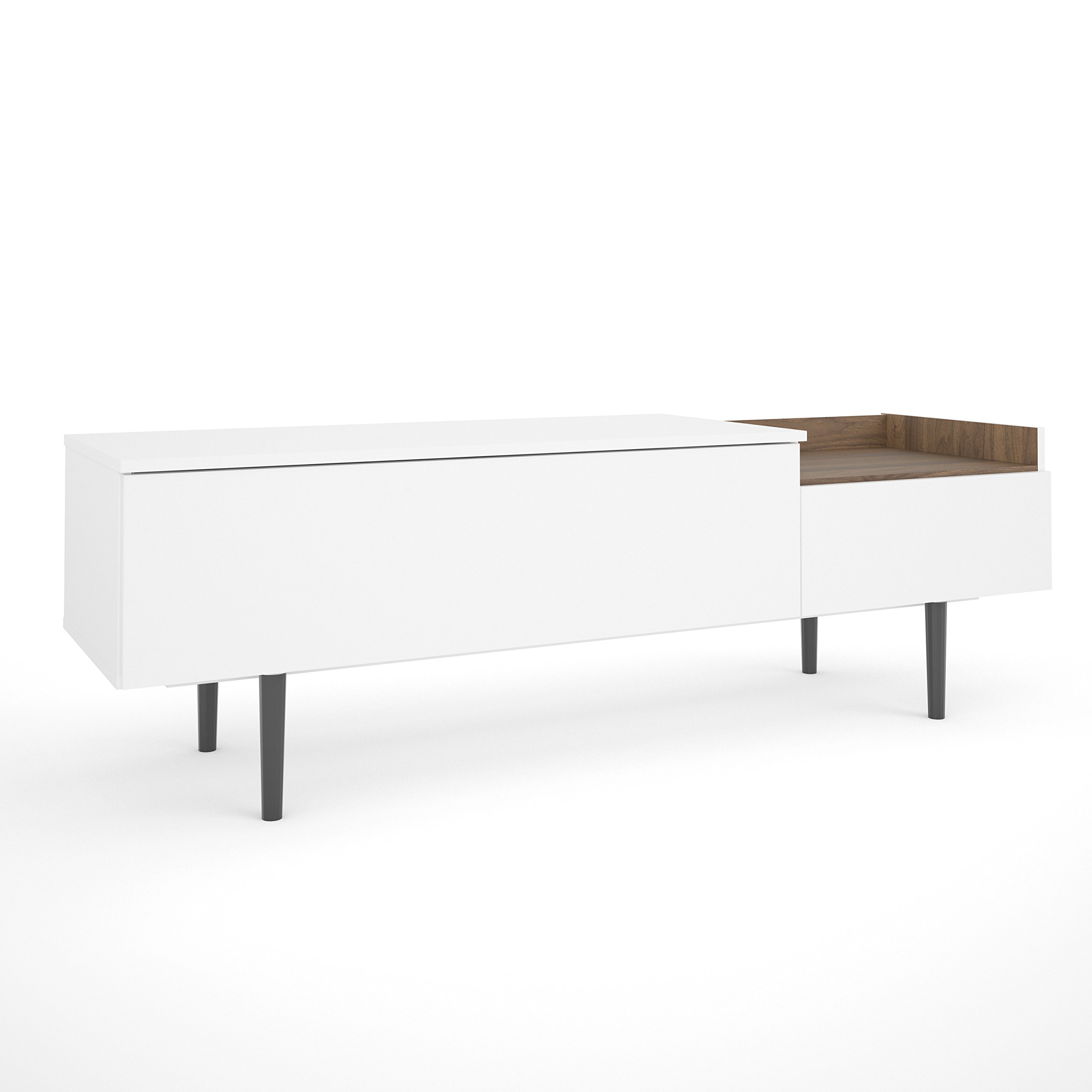 Tvilum 9214849dj Unit 2 Drawer Sideboard, White/Walnut