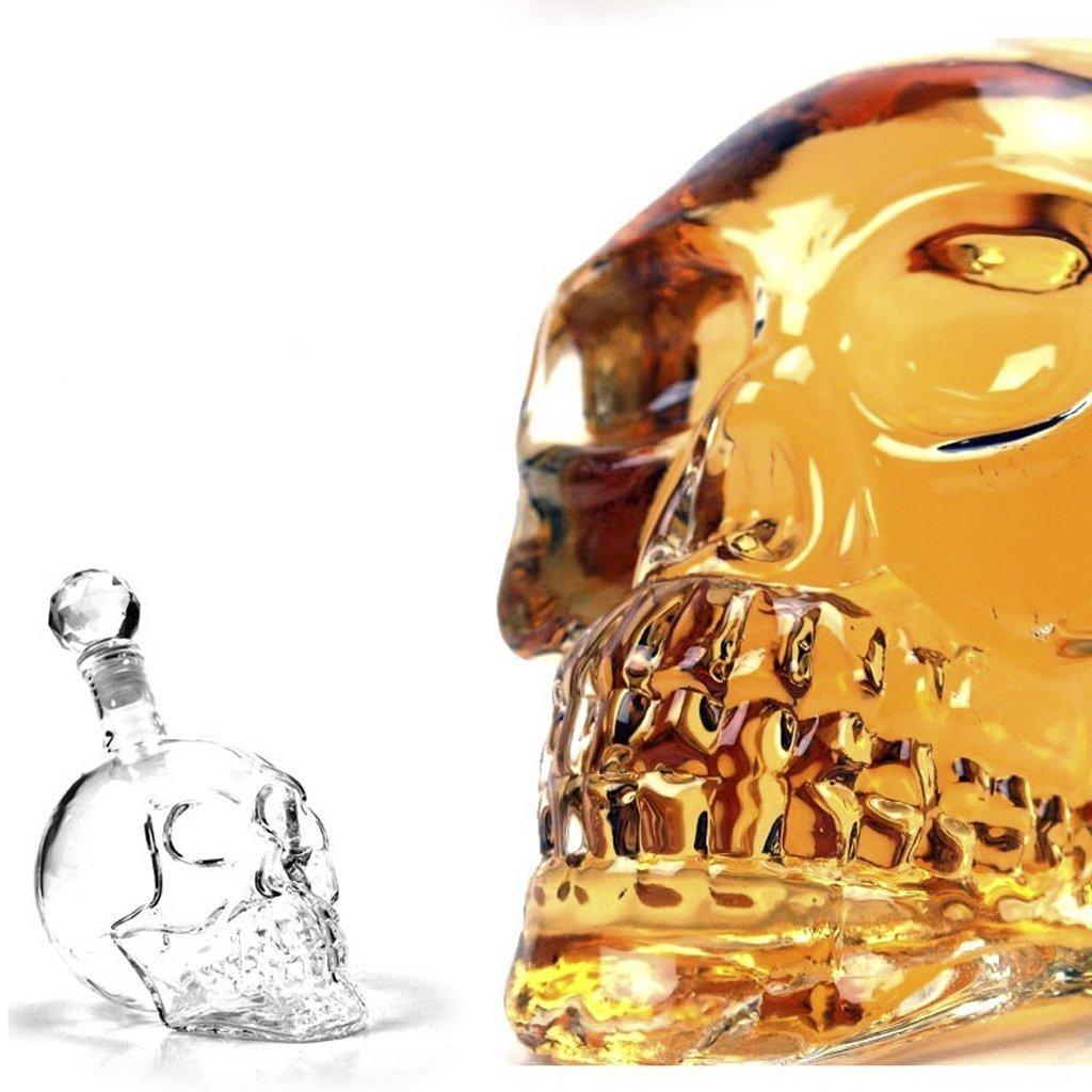1000ml Decantador De Skull Head De Cristal V Treo Para Vodka  # Muebles Para Guardar Whisky