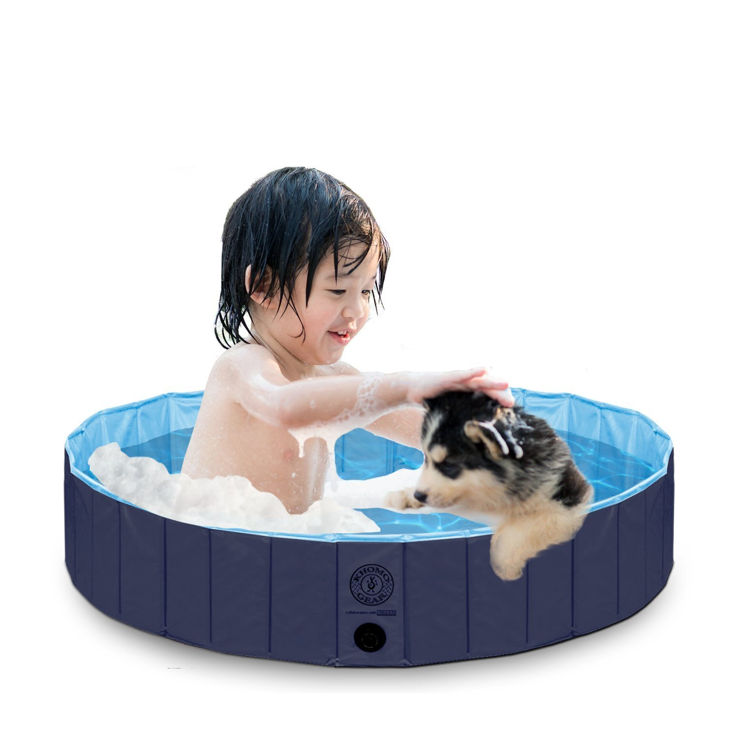KOPEKS Outdoor Swimming Pool Bathing Tub - Portable Foldable - Ideal for Pets - Large 47'' x 12''