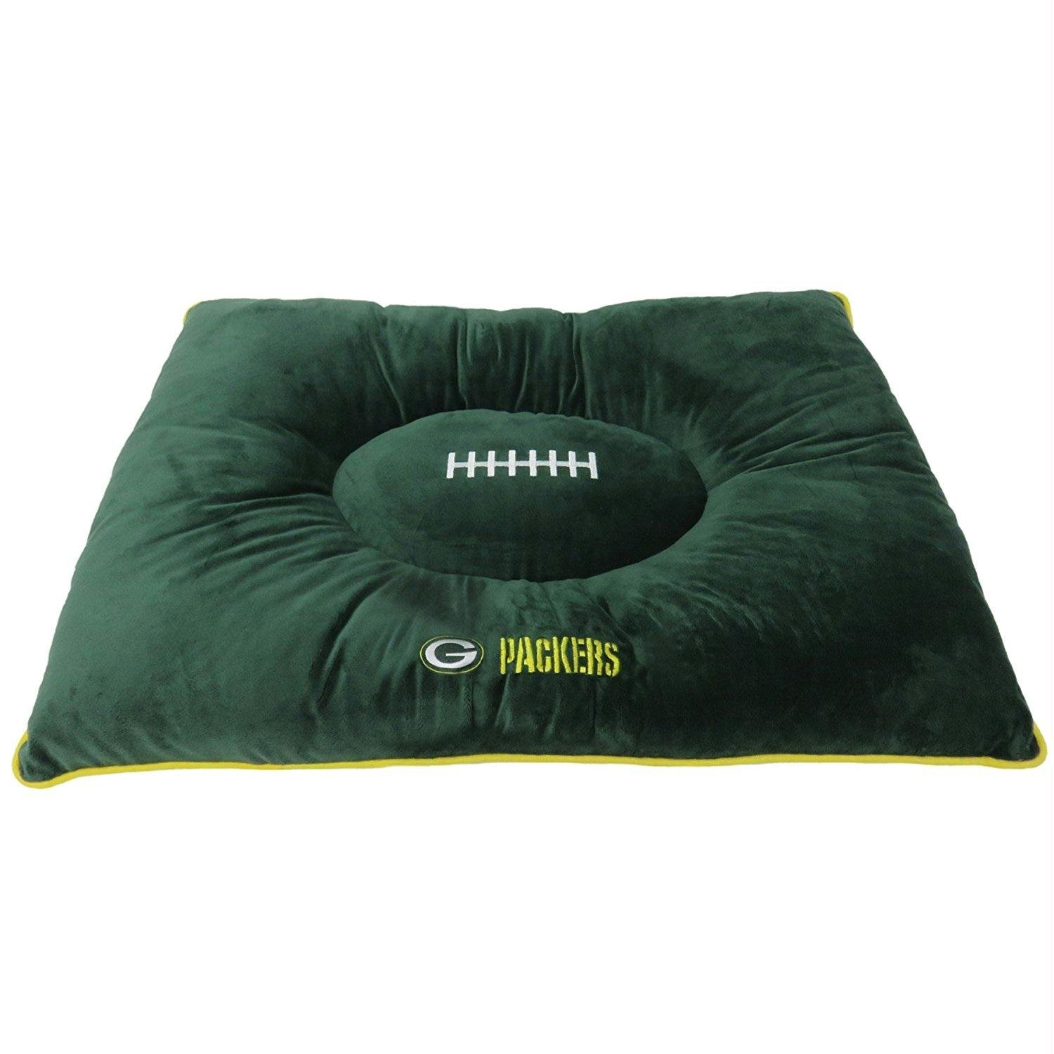 Green Bay Packers Pet Pillow Bed by Pet Care Preferred (Image #1)