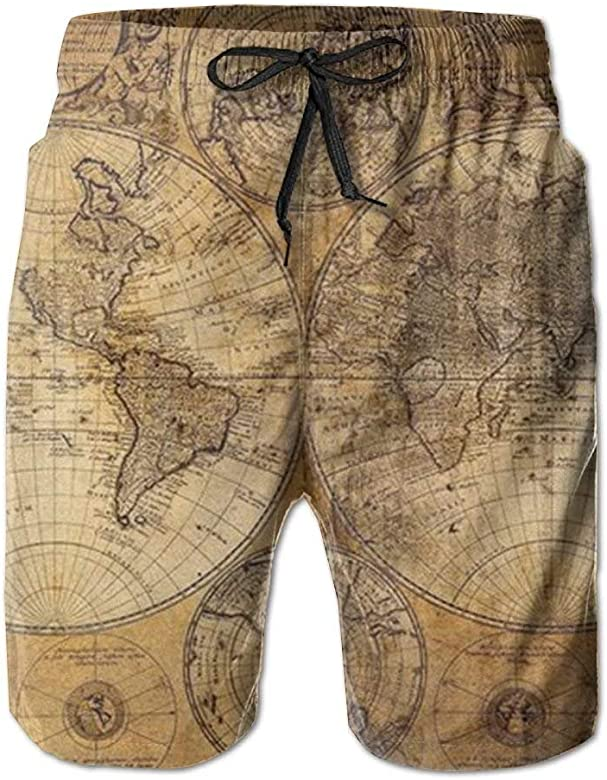 yting Mapa del Mundo Hombres elásticos Bañadores para Hombre ...