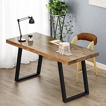 industrial home office desk. Tribesigns 55\u0026quot; Rustic Solid Wood Computer Desk With Reclaimed Look, Vintage Industrial Home Office S