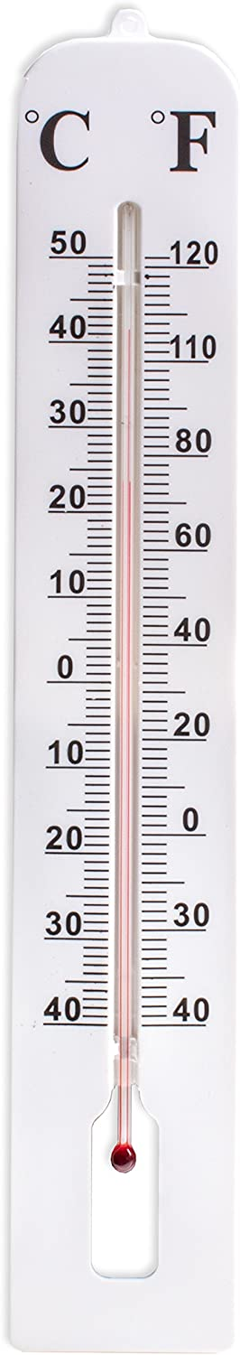 Outdoor /°C /& /°F Wall Thermometer Large 40cm Indoor White