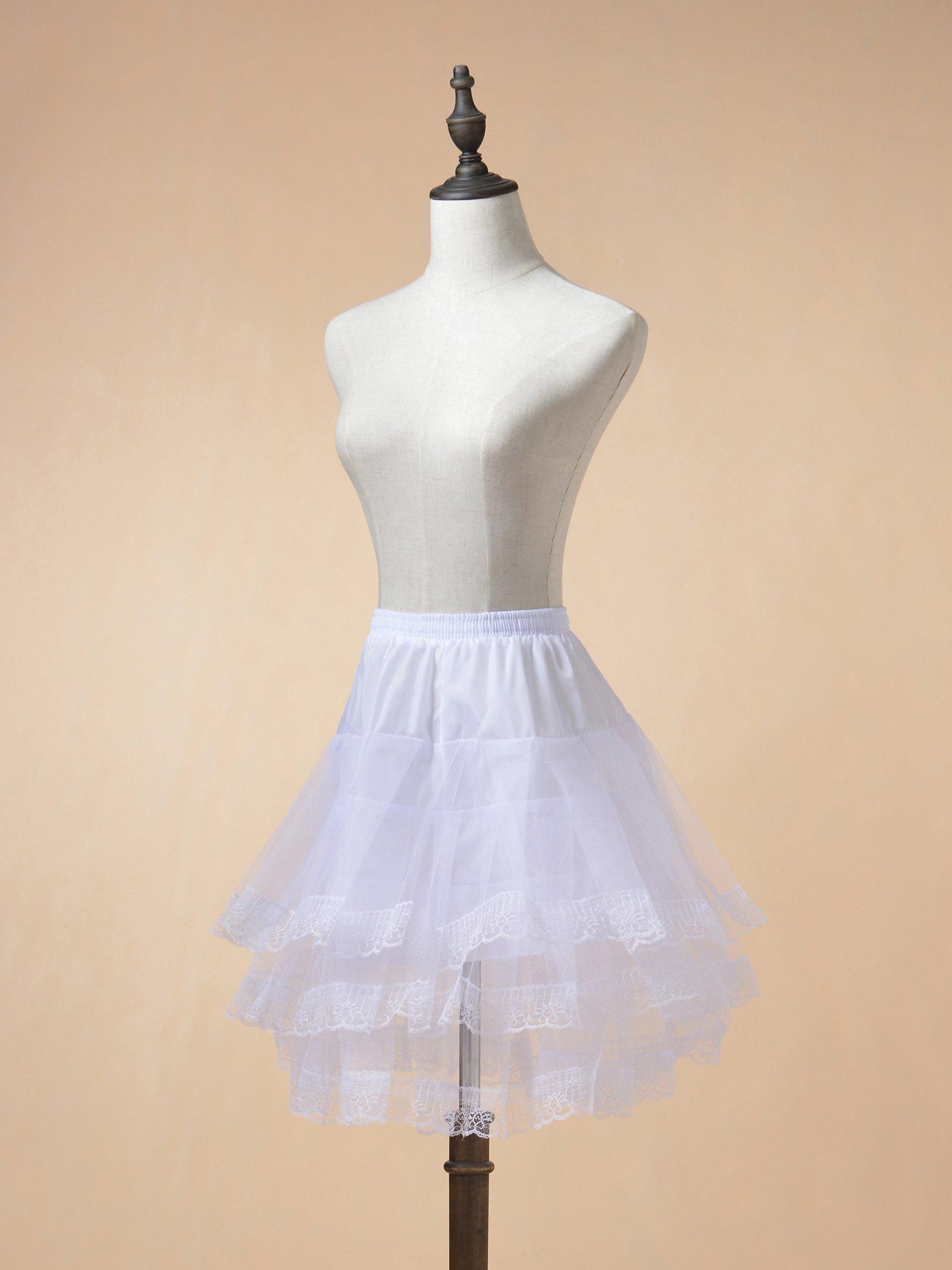 Remedios Kids Mini White Petticoat Flower Girl Wedding Underskirt Cocktail Dress Crinoline Slip White by Remedios (Image #3)
