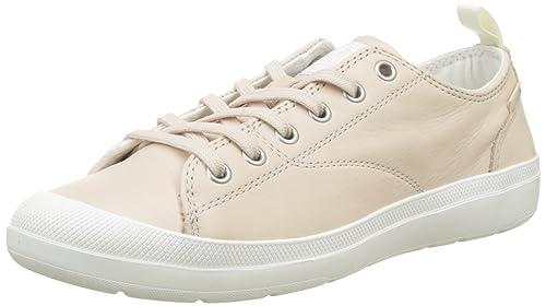 Womens Wander Lace Leather Trainers, Beige (Blanc Whisper Pink/Star White M20), 7 UK Palladium