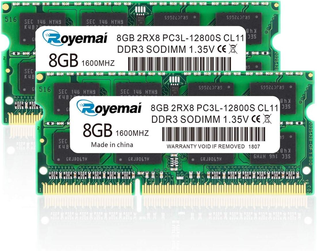 2x 8GB 16GB DDR3 PC3L 12800S 1600 MEMORY Hynix Low Volt for Macbook Pro