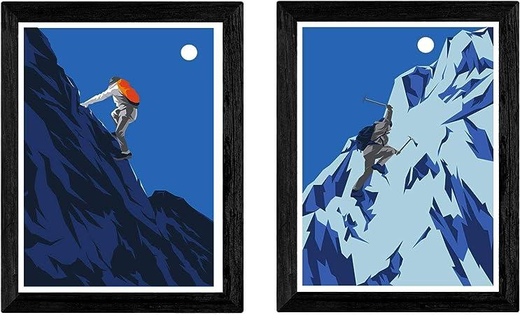 Pack de Dos láminas Escalada. Tamaño A3: Amazon.es: Hogar