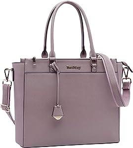 BAIMAY Laptop Bag for Women 15 15.6 17 Inch Work Tote Bag Office Handbag Business Briefcase Multi Pockets Laptop Shoulder Bag with Exquisite Pendant for Work School Travel