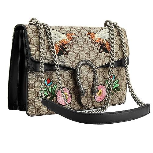 cb7f5c6fd647 Cross-body Bag for Womens Handbag Designer Fashion Single Shoulder  Messenger Bags (Black)