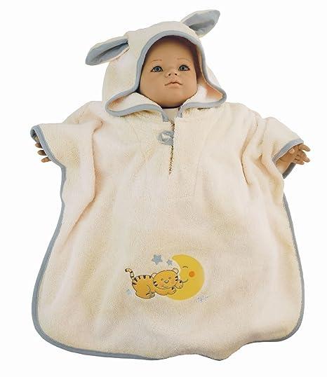 Bieco 44500003 Baby – Albornoz poncho de algodón 100%, Beige