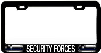 American Police Veteran Steel Metal License Plate Frame Car Auto Tag Holder