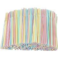 Powstro Plastic lange rietjes, intrekbare feestrietjes set strip, melkthee rietjes accessoires, volwassen kinderen thuis…