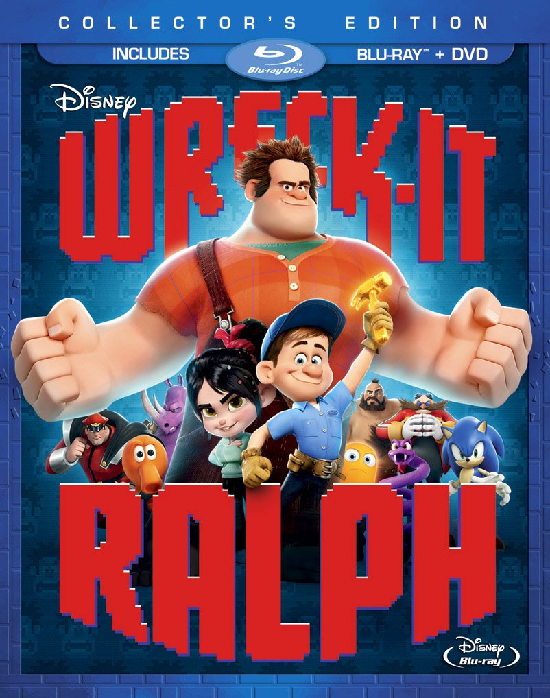 Blu-ray : Wreck-It Ralph (With DVD, Collector's Edition, 2 Pack, Digital Theater System, Dolby)