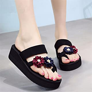 FLYRCX Mode en plein air Sandales pour femme Tongs confortable et antidérapant Chaussures de plage.