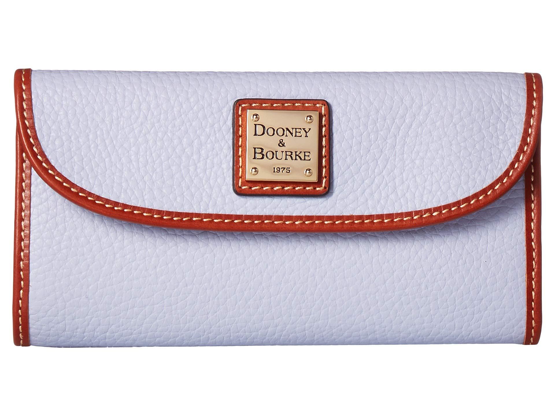 Dooney & Bourke Pebble Grain Continental Clutch Wallet, Glacier Blue