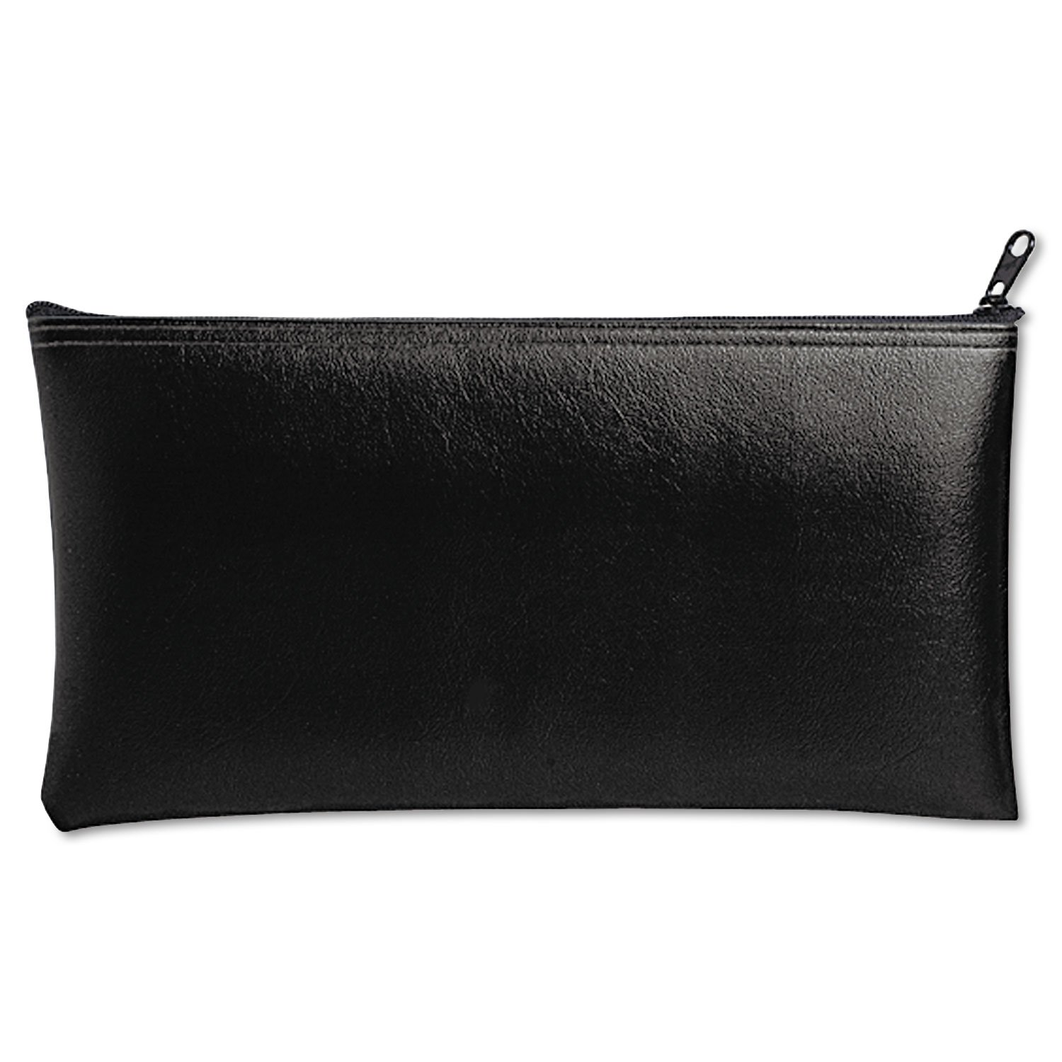 MMF Industries 2340416W04 Leatherette Zippered Wallet, Leather-Like Vinyl, 11w x 6h, Black