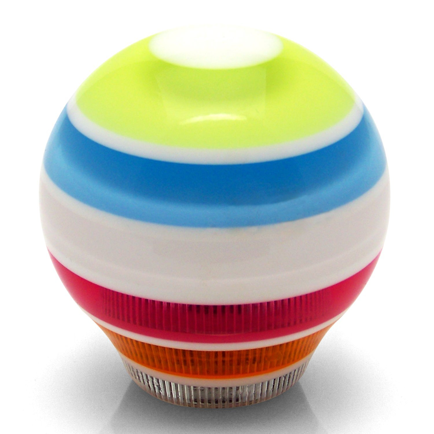 American Shifter 273142 White 4 Speed Pattern-Dots 3n Stripe Shift Knob with M16 x 1.5 Insert