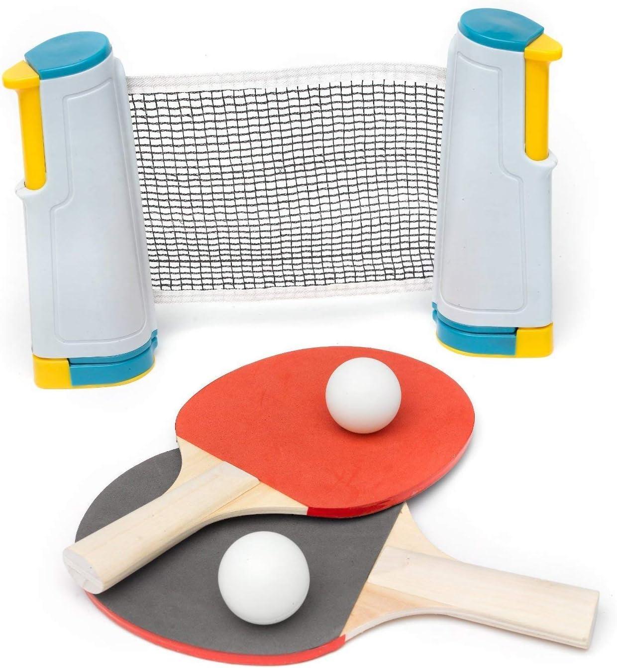 Instant Tennis de Table Jeu tout en un ping pong Set Pour Toute Table Paddle Ball